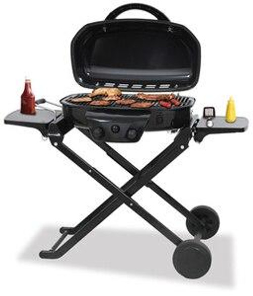 Blue Rhino Tailgate LP BBQ with Foldable Cart and Cobalt Blue Lid