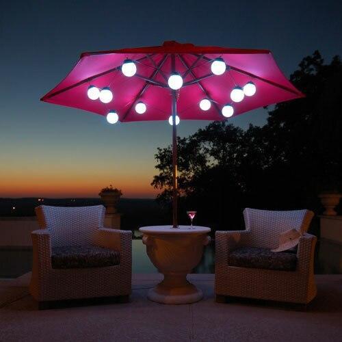 Patio Living Concepts LED Globe Umbrella Lights 12 globe lights