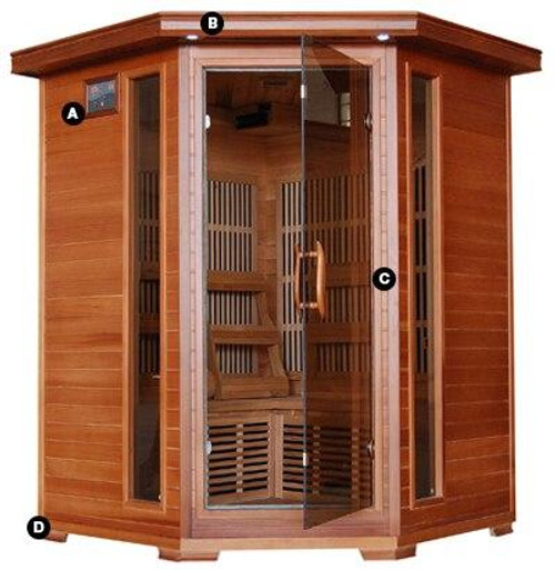 HeatWave HeatWave Hudson Bay 3 Person FAR Infrared Corner Sauna