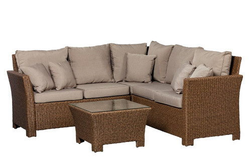 Well Traveled Living Mocha Jarrett Wicker Sectional Set
