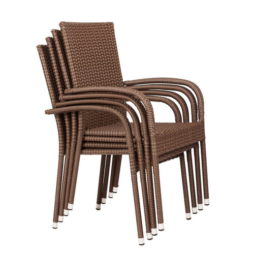 Well Traveled Living Morgan Outdoor Wicker Chair 4-Pack