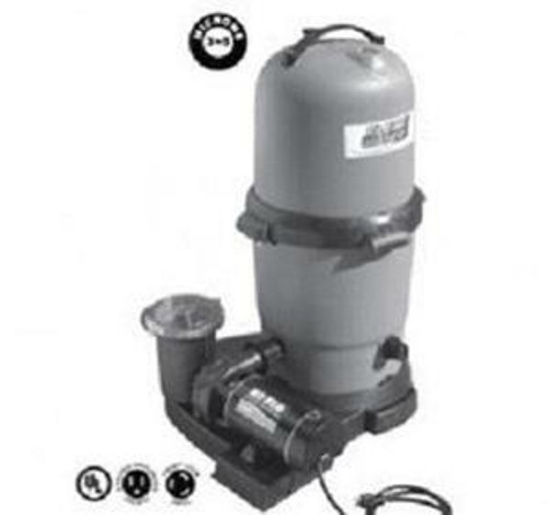 WaterWay Waterway Blue Star 100 Sq Ft Standard Cartridge Filter System with 1.5 HP Hi-Flo Pump