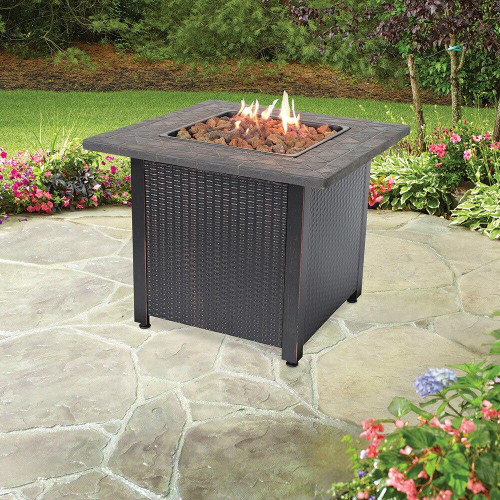 Endless Summer Endless Summer LP Gas Outdoor Fire Pit with Resin Mantel