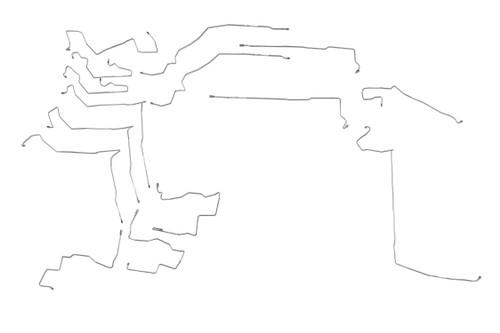 Forester Brake Line 2008 2.5L; w/ A.T; w/o PHV BLS-100-SS1C Set