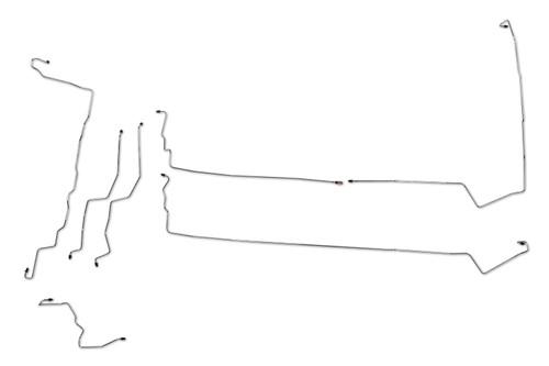 Hyundai Santa Fe Brake Line 2006 2.4L, 2.7L, 3.5L w/o ABS BLH-100-SS1G Stainless Steel Set