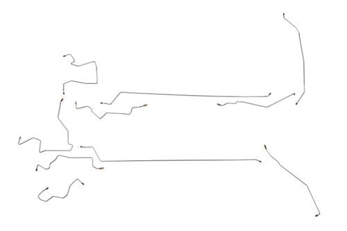 Buick Allure Brake Line 2007 4 Door w/o ABS 3.8L BLB-103-SS2C Stainless Steel Set