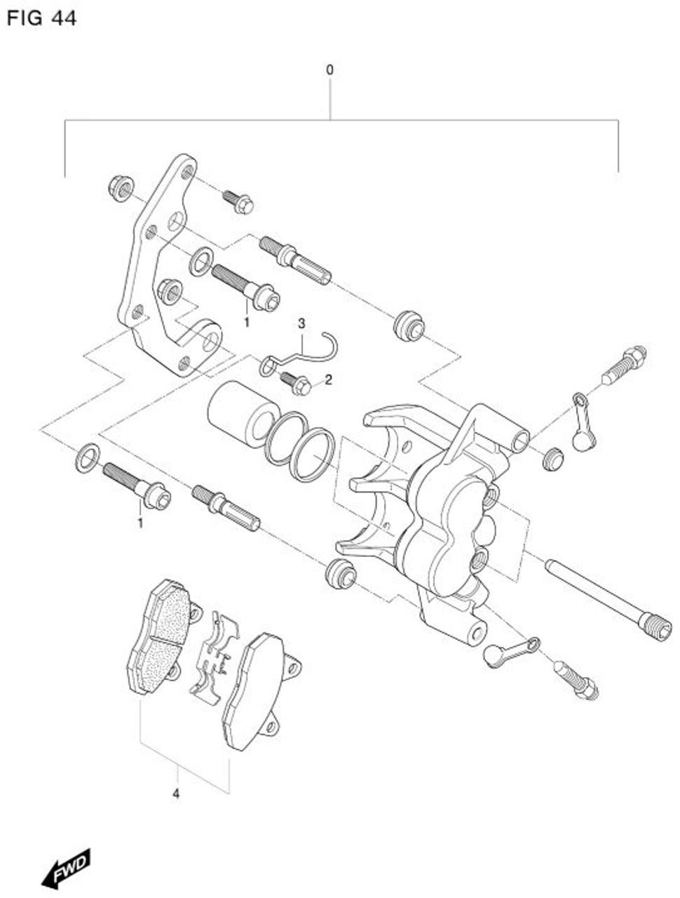 Hyosung Left Caliper GT650R GT650 GT250R GT250 GV650