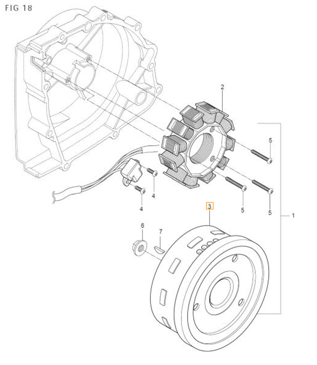 GV250 GT250R Flywheel Rotor Magneto2002 2003 2004 2005 2006 2007 2008 2009