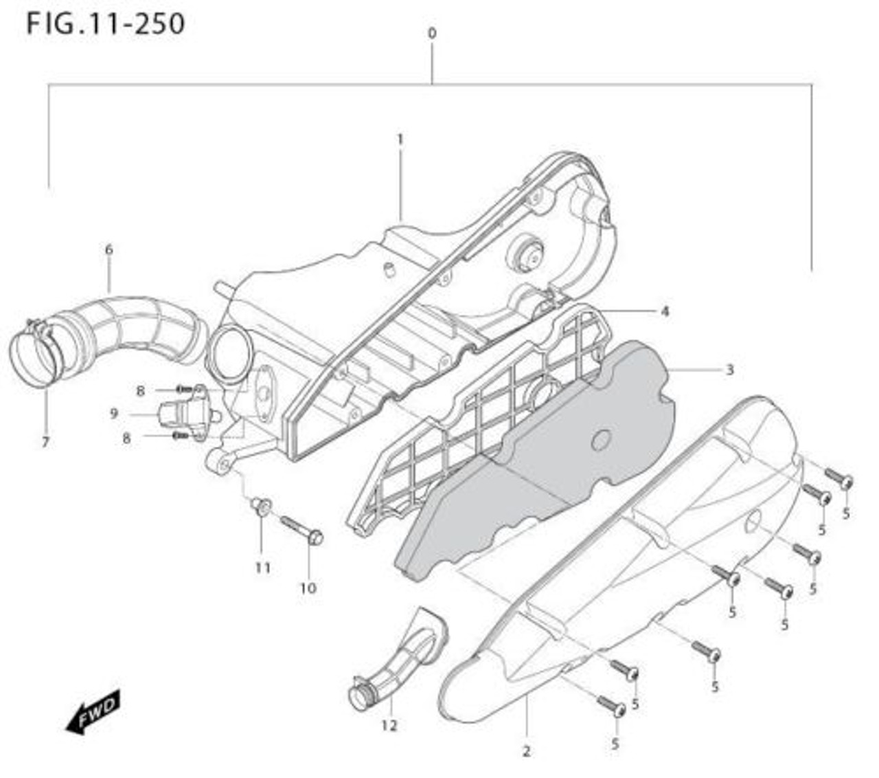 MS3-250 Air Filter XSpeed 250i Hyosung United Motors
