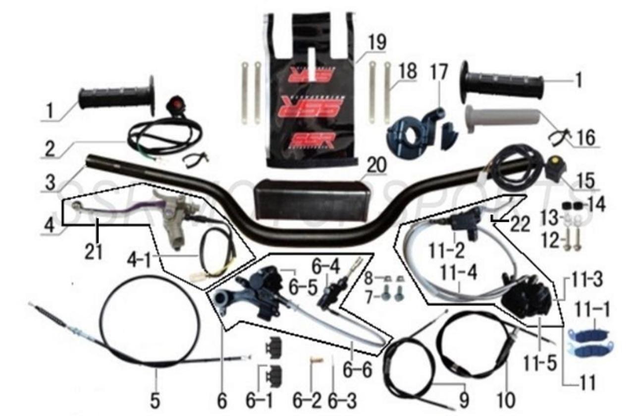 SSR SR150 & SR189 Rear Brake Master Cylinder