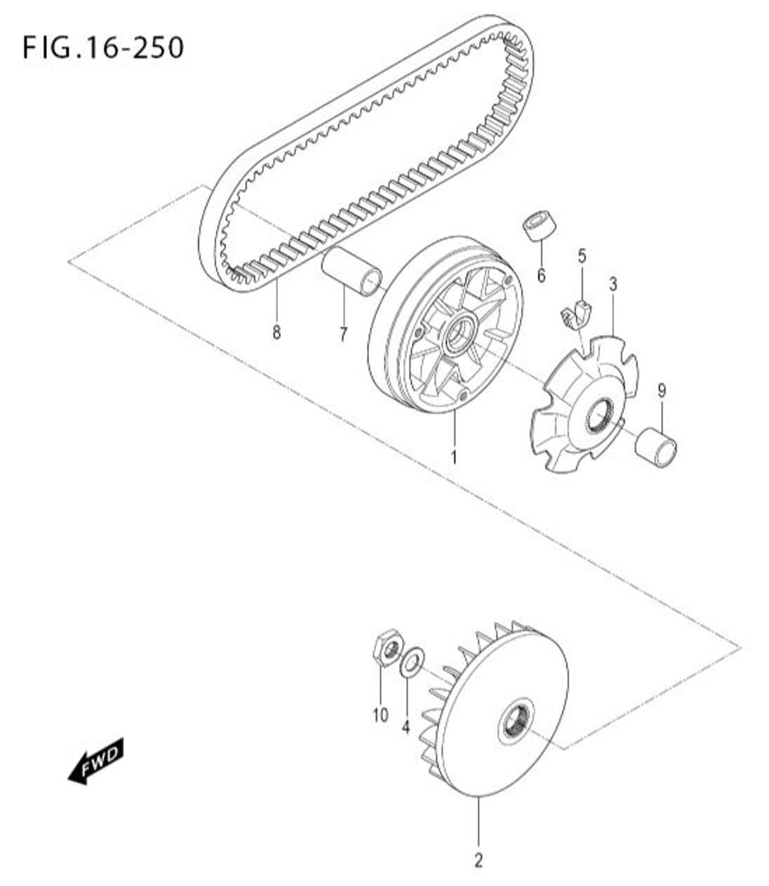 MS3-250 United Motors Xspeed 250i Drive Belt
