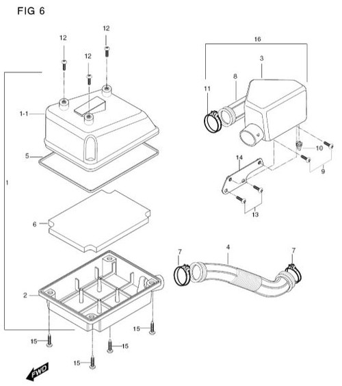 Hyosung TE50 Connecting Tube for carb to air box