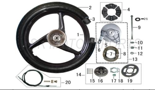 Lazer 5 Rear Wheel Rim