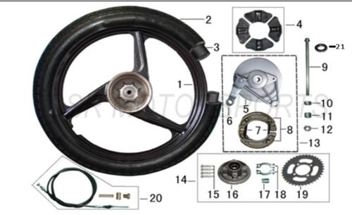 lazer 5 Rear Brake SHoe Spring