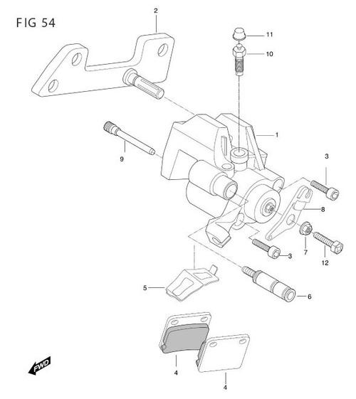 Hyosung TE450S MTX-450R Rear Brake Caliper
