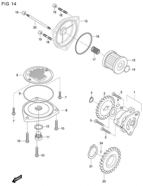 Hyosung GT650R GV650 ST7 GV700 GT650 Internal Oil Filter O-Ring