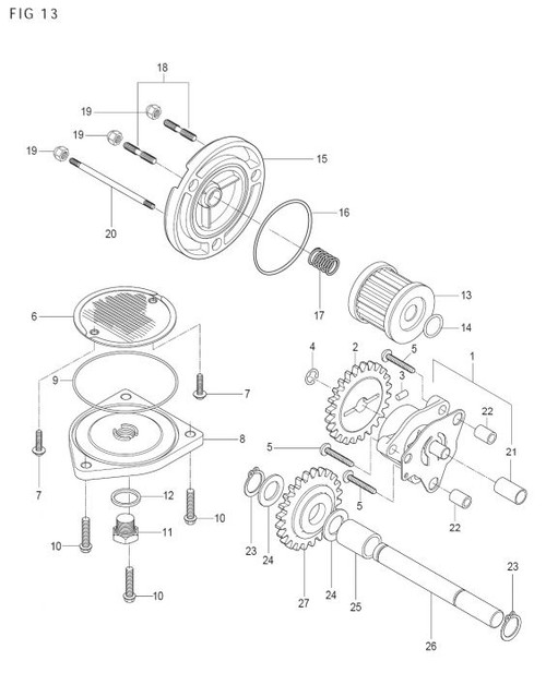 Strainer Cap O-Ring GV250 GT250R GT250 RX125 TE450S MTX450R