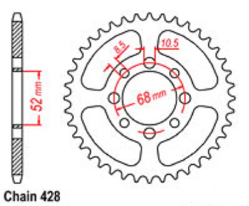 420 Taotao Or Ssr Chinese Front Counter Sprocket Upgrade