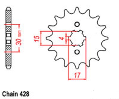 Taotao 428 Front Counter Sprocket (Higher Quality)