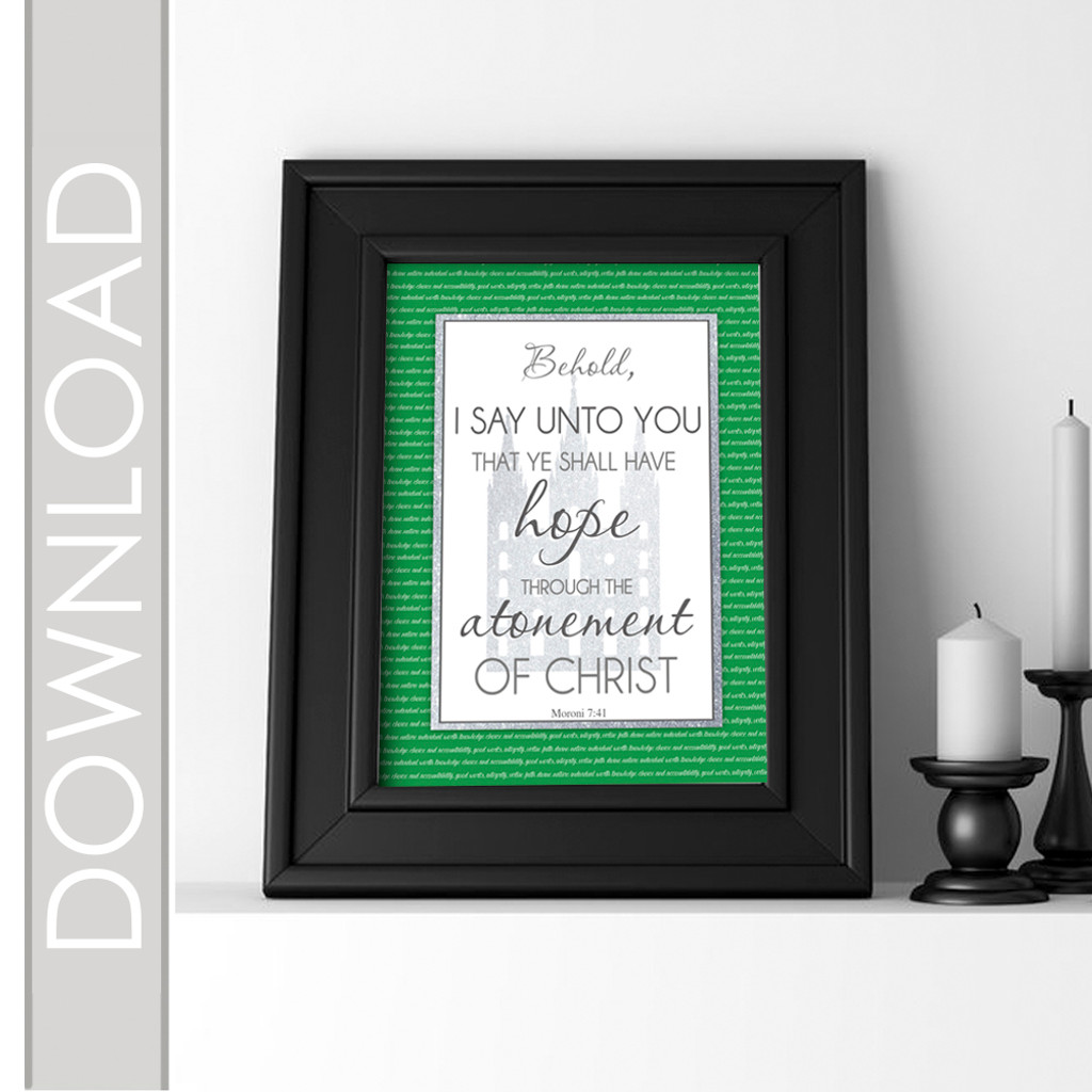 Printable March Scripture Poster