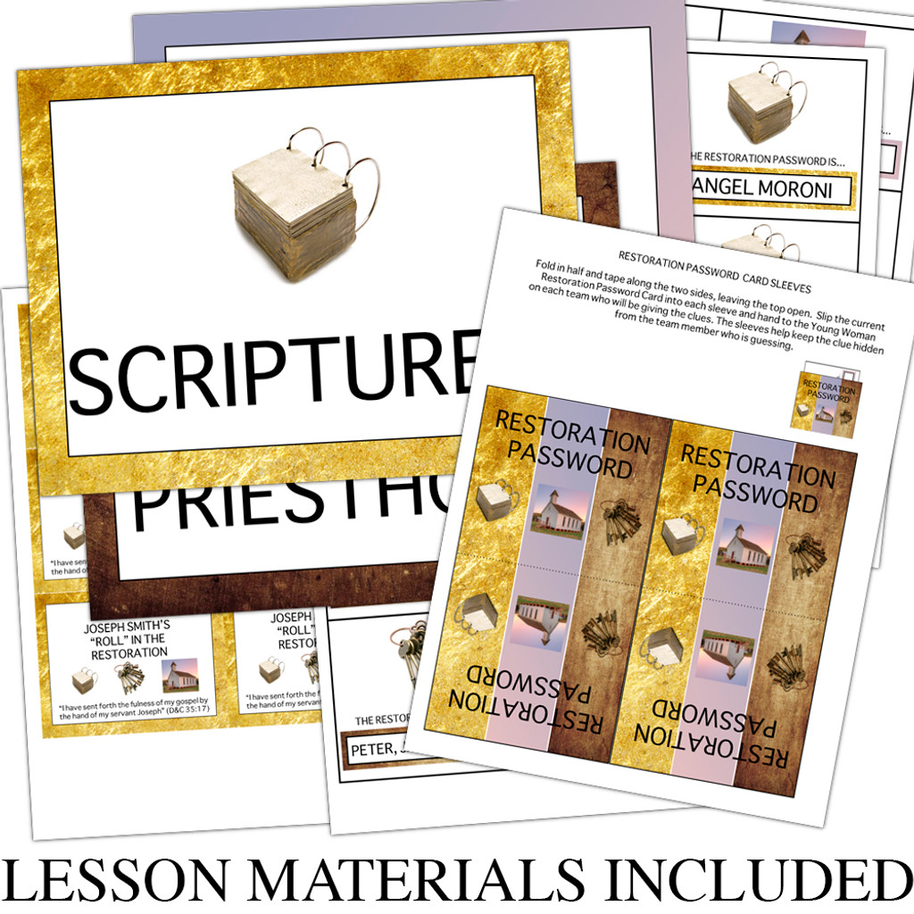 What Was Joseph Smith's Role in the Restoration Lesson Materials