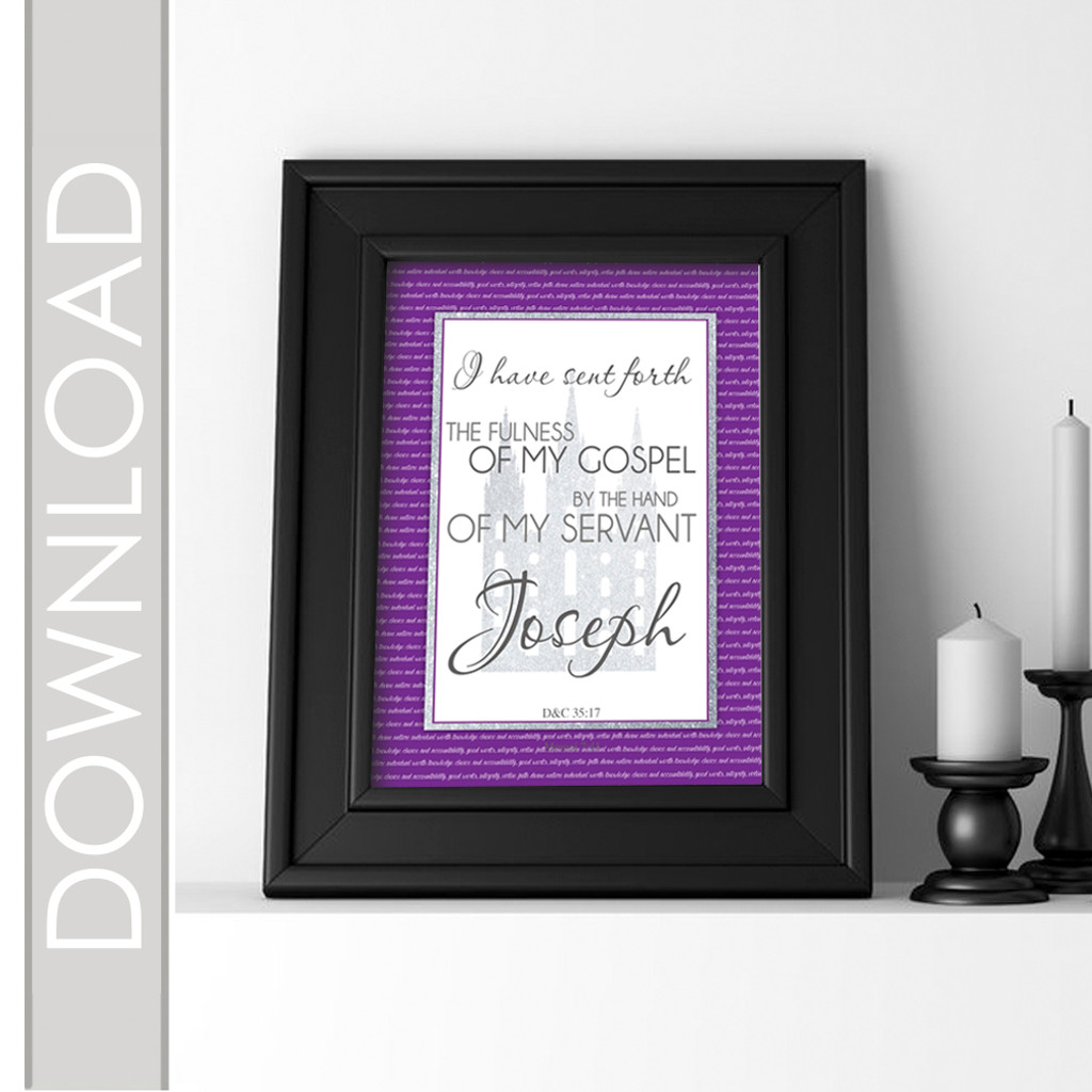Young Women's April Scripture Printable Poster Included