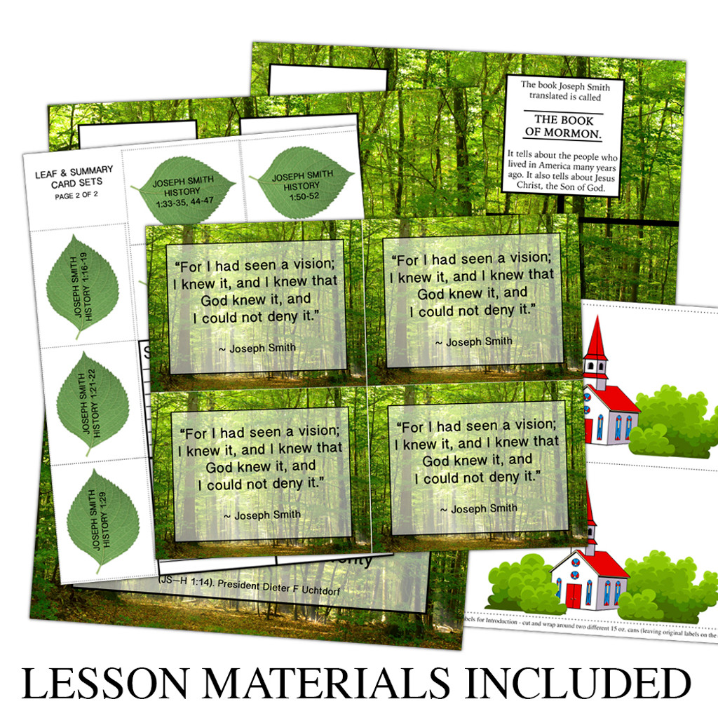First Vision Lesson Materials Included