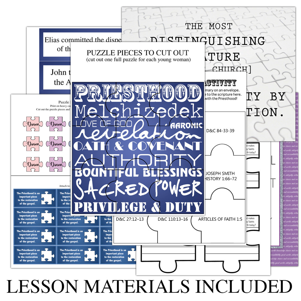 How Was the Priesthood Restored Lesson Materials Included