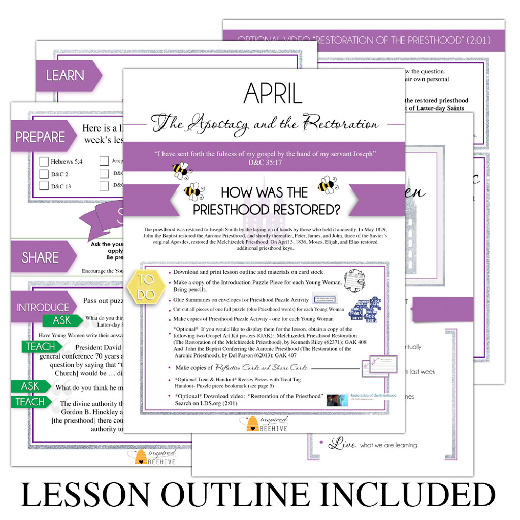 How Was the Priesthood Restored Lesson Outline