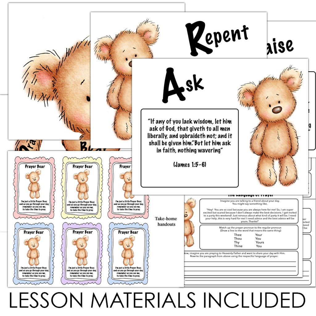 Lesson Materials Included