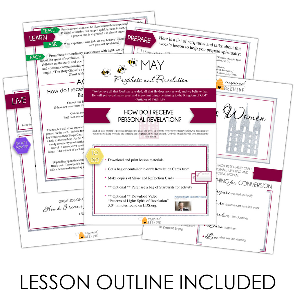 Come Follow Me - How Do I Receive Personal Revelation? - May Young Women  Lesson Plan
