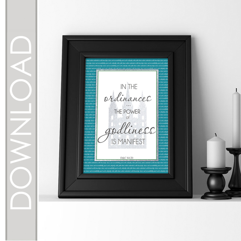 Young Women July Scripture Poster