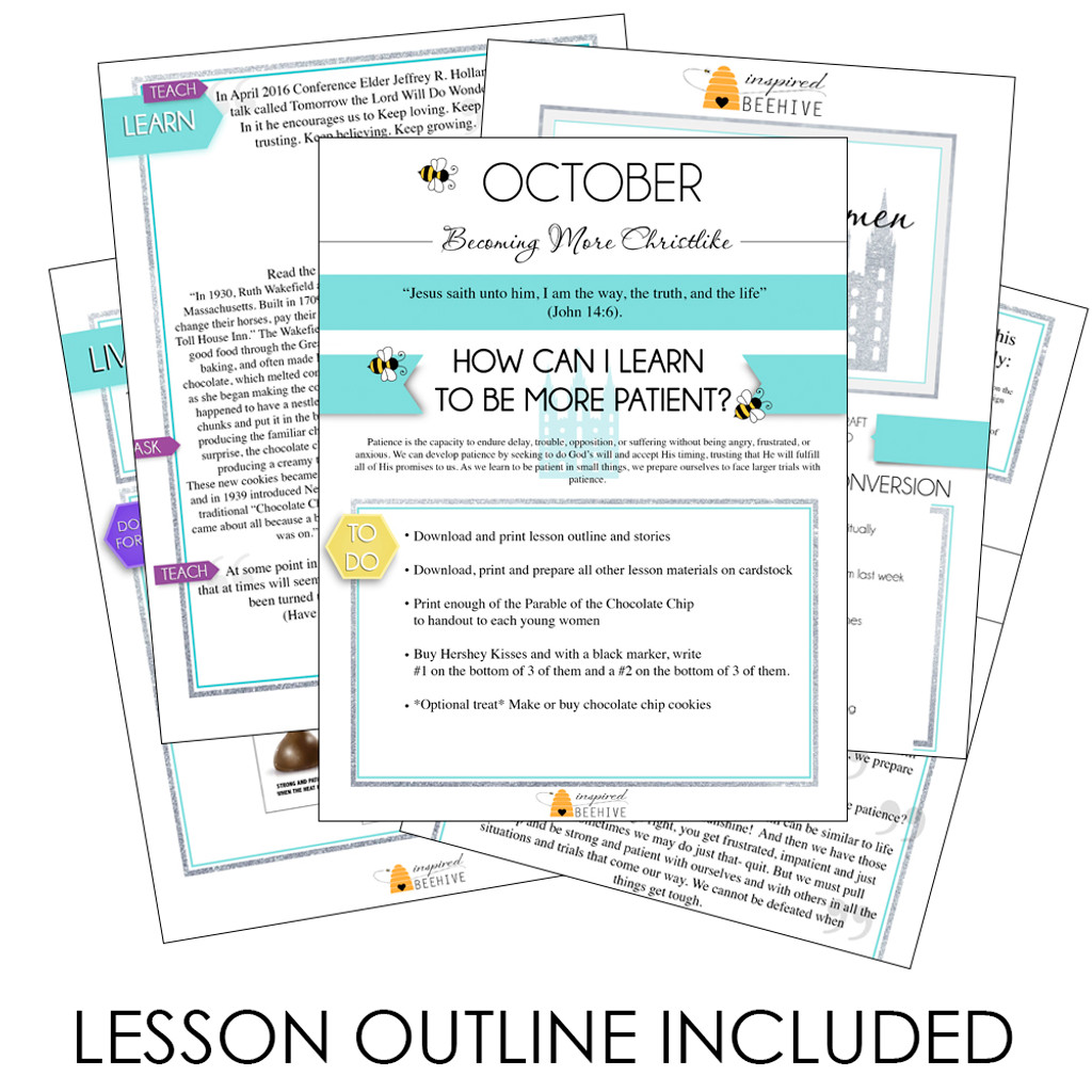 How Can I Learn To Be More Patient? - October LDS Young Women Lesson Plan