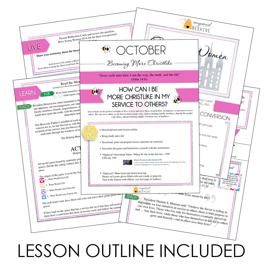 How Can I Be More Christlike In My Service To Others? - October LDS Young Women Lesson Plan