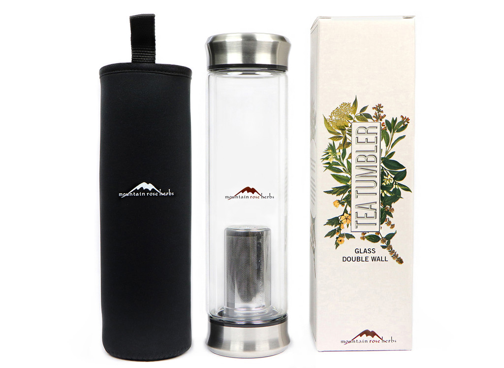 Double Walled Glass Tea Tumbler