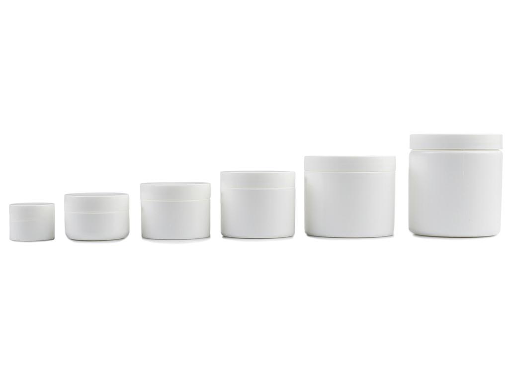 White Plastic Jars