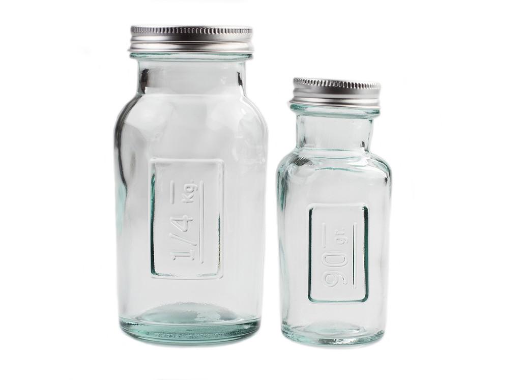 Clear Glass Storage Jars