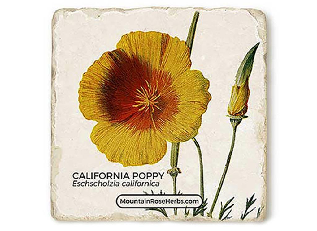California Poppy Stone Coaster