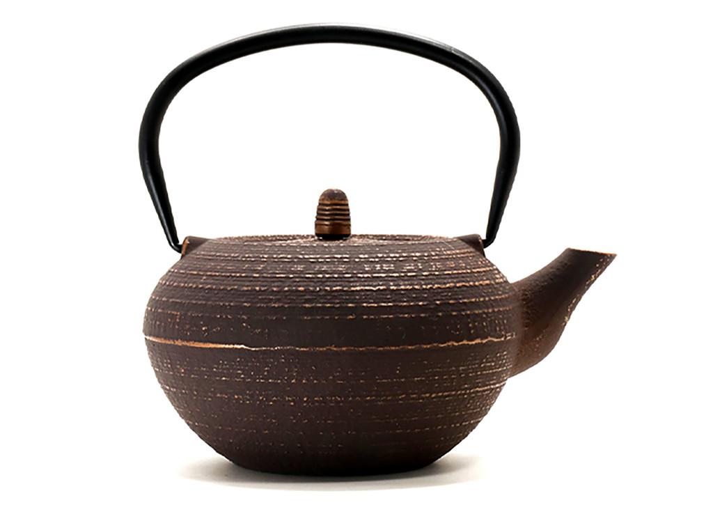 Brown Cast Iron Teapot