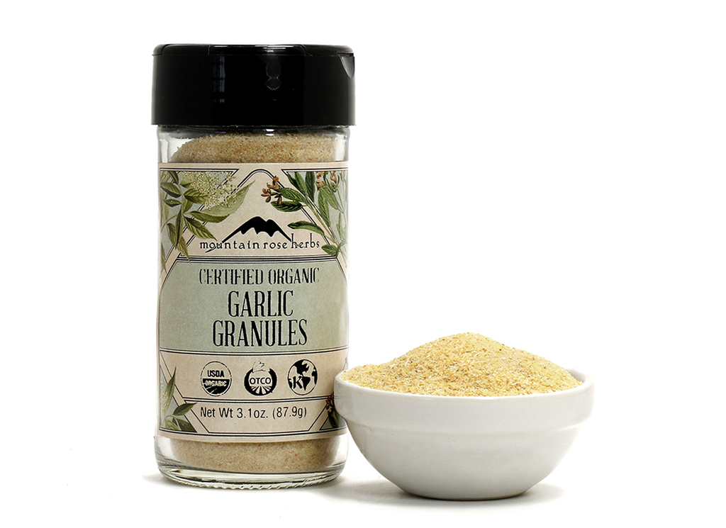 Organic Bottled Garlic Granules