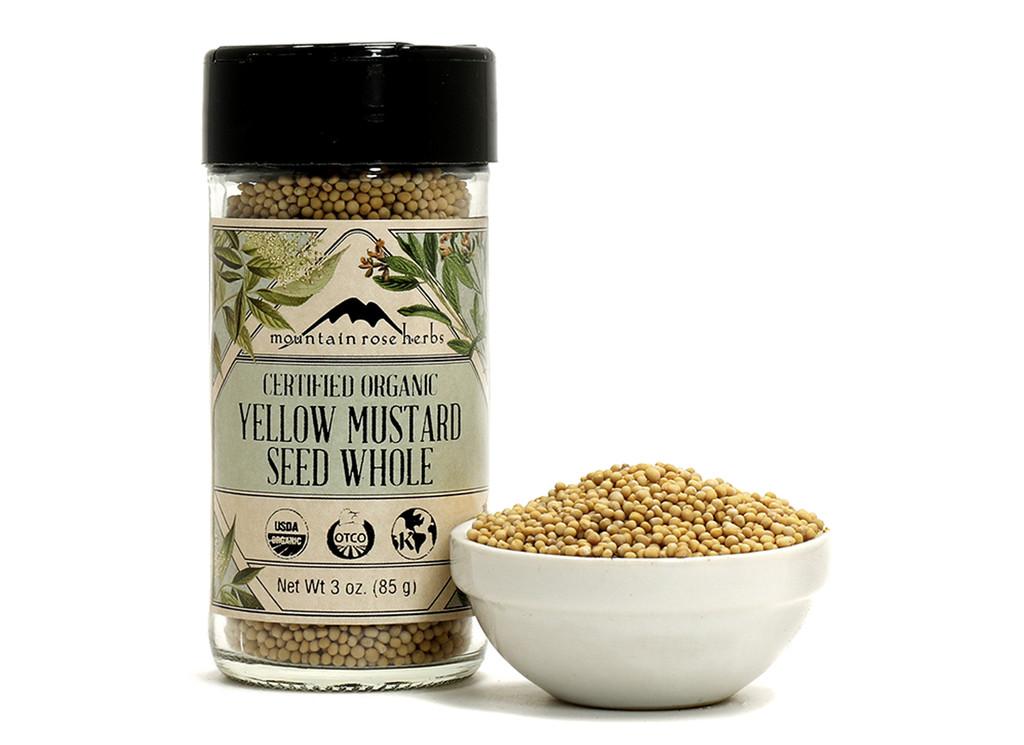 Organic Bottled Yellow Mustard Seed