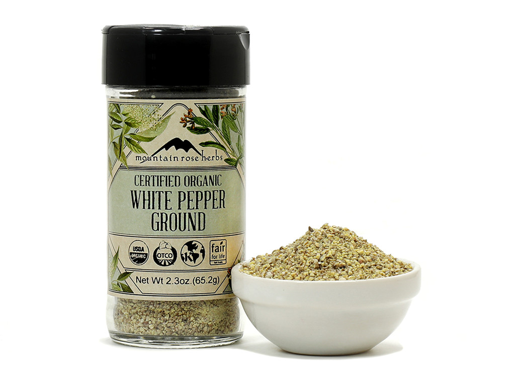 Bottled Organic Ground White Pepper