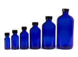 Cobalt Glass Bottles with Screw Cap
