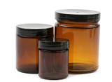 Amber Glass Jars