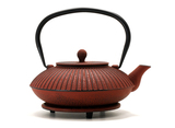 Burnt Umber Cast Iron Teapot