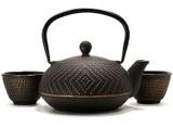 Dotted Cast Iron Teapot Set