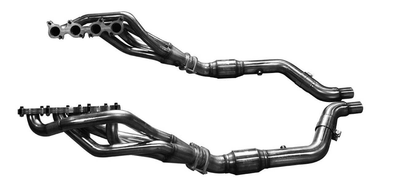 Kooks 2015-2019 Mustang GT 1-3/4 Long-Tube Headers with OEM Connection  Catted Mid-Pipe