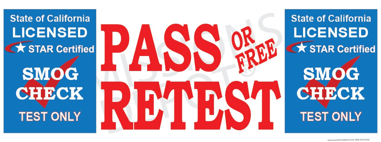Pass Or Free Retest Test Only Star Certified Blue