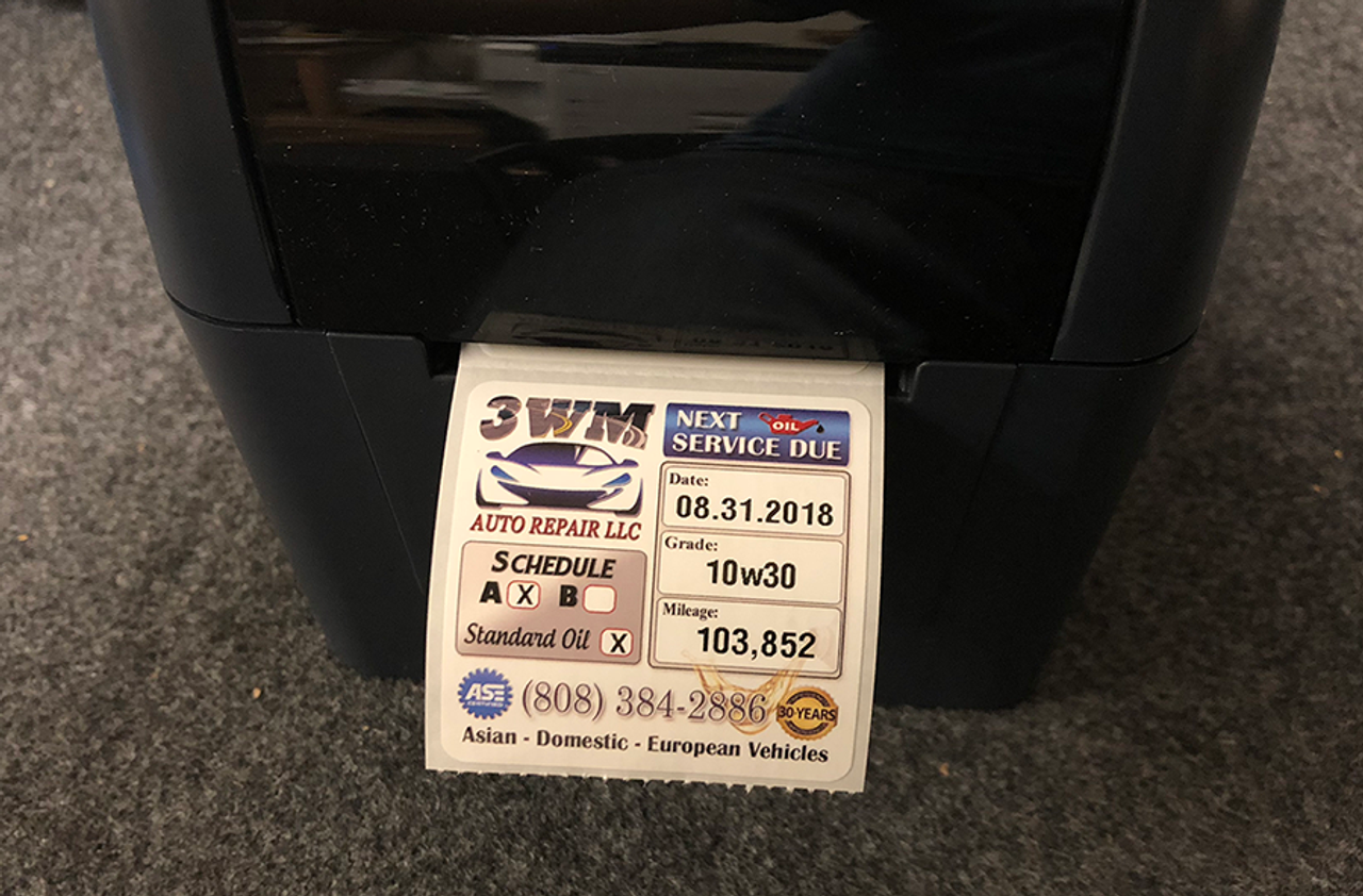 Oil Change Sticker Printer >> Oil Change Desktop Printer Pre Programmed With Keyboard Includes 500 Custom Designed Stickers And 1st Roll Of Wax Ribbon