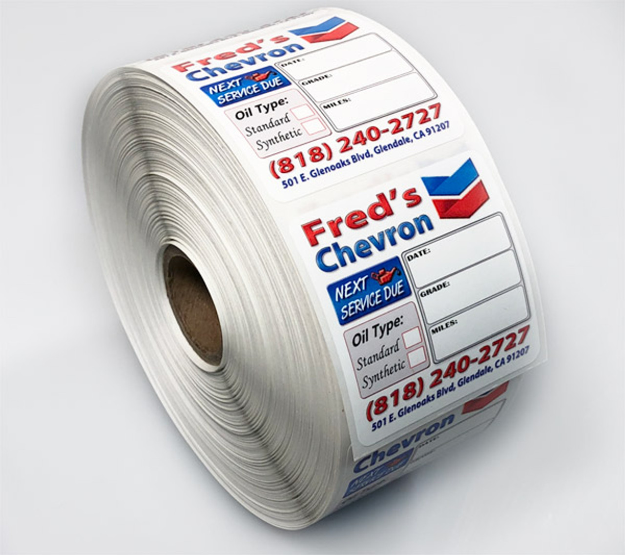 Custom Oil Change Reminder Stickers